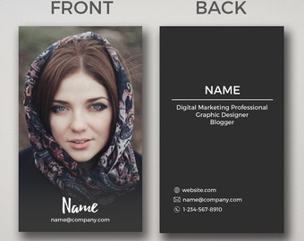 Freelancer Business Card - Photoshop Template PSD *INSTANT DOWNLOAD*