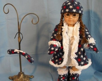 18 Inch American Girl Doll Fleece Winter Coat Set