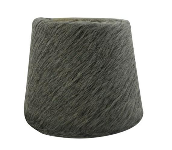 hnliche artikel wie kuhfell lampenschirm in grau geeignet. Black Bedroom Furniture Sets. Home Design Ideas