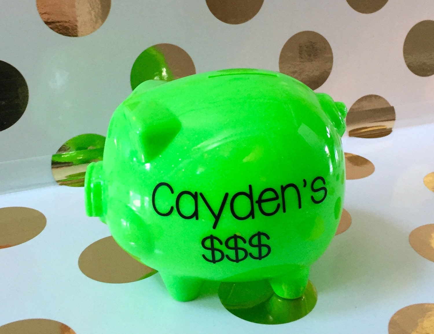 Plastic Personalized Piggy Banks For Kids