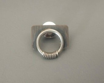 Wrapped Circle tie pin