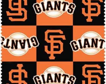 "Fleece Fabric San Francisco Giants Blanket Fabric MLB 60"" Wide. Style# MLB SANF-6592. Fast Shipping."