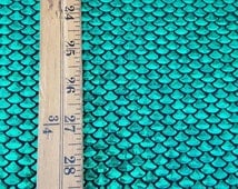 Small/Mini Fish Scales Mermaid Scales Spandex Hologram Fabric Sold By the Yard [Small Scales]{Colors: Geeen/Fuschia} on Listing