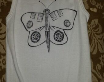 12M Butterfly onesie tank