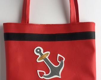 Anchors Aweigh! Vinyl tote bag