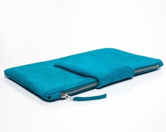 """Clutch """"Josh"""" - turquoise - suede"""