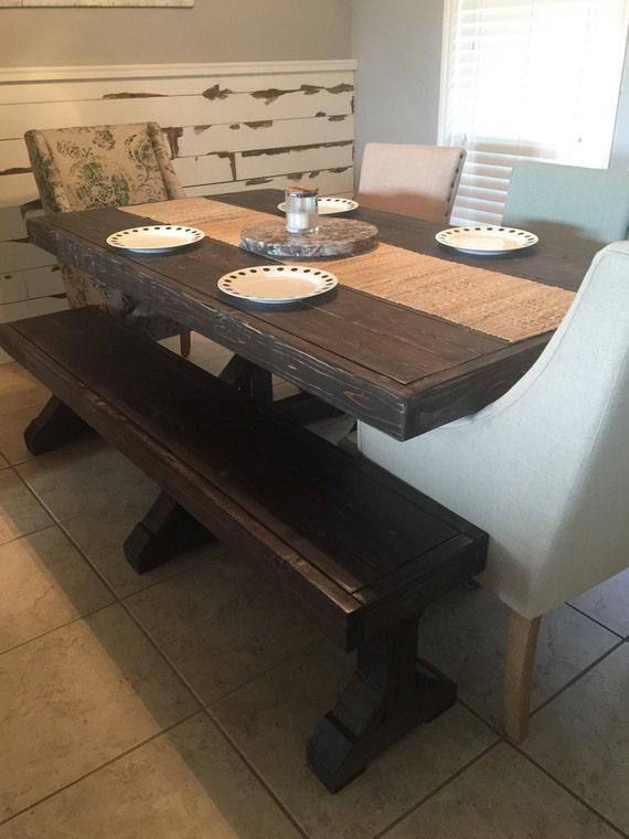Farm table & bench