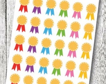 Award Ribbon Planner Stickers
