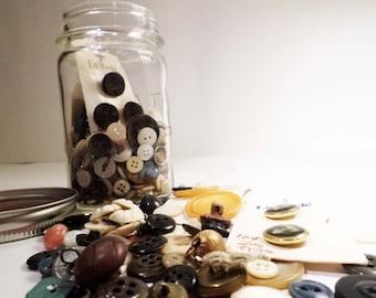 Vintage Jar of Buttons