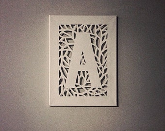 Canvas Cut Initial