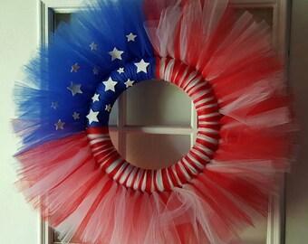 Patriotic Tutu Wreath