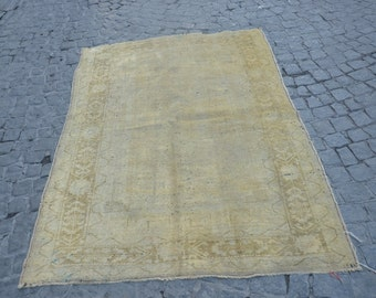 Antique Rug,Vinatge Rug,Pastel Rug,Vinatge Rug,handspon Rug,Tribal Rug,Oriental Rug,Handweaving Rug 190x128cm '6.2x'4.2 feet
