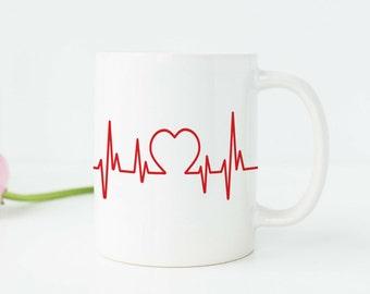 Doctor Gift Doctor Graduation Gift Doctor Mug EKG Mug Medical Mug Medical Graduation Gift Medical Student Gift Nurse Gift Nurse Mug A102