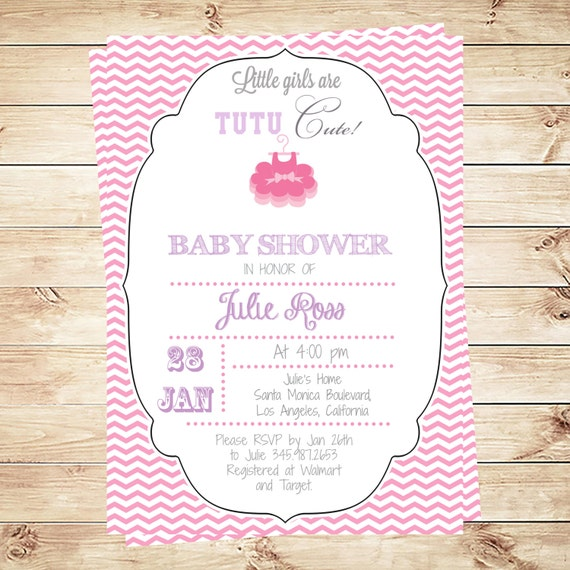 tutu cute baby shower invitation tutu cute shower tutu baby shower