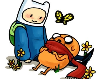 Finn and Jake - Adventure Time Print
