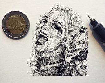 Suicide Squad (The Joker & Harley Quinn) - x2 Miniature Prints