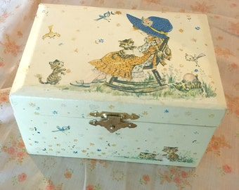 Vintage Holly Hobbie Ballerina Music Box