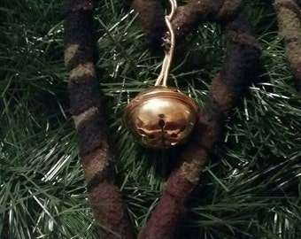 Camo Heart Ornament with Bell