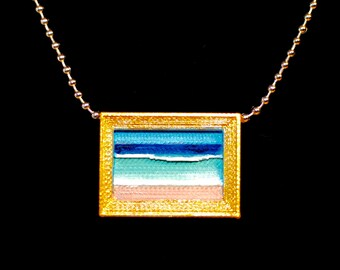 Seascape Necklace, Beach Necklace, Ocean Necklace, Sea Necklace, Beach Pendant, Sea Pendant, Seascape Pendant, Ocean Pendant
