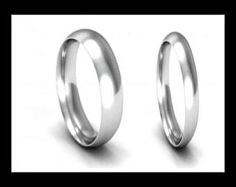 White Gold Ring 9k Gold Ring White Gold Band White Gold Wedding Band White Gold Wedding Ring White Gold Ring in Rings Wedding Ring 9ct Ring