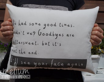 6 colors - One Direction - Directioner forever - Walking In The Wind lyrics pillow - handmade