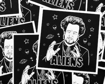Giorgio Tsoukalos Ancient Aliens Vinyl Sticker