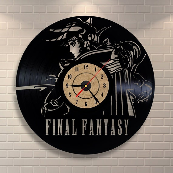 Final Fantasy 7 Vinyl Wall Record Clock By Vinylastico On Etsy