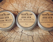 Organic Beard Balm Gift Set ~ Natural Wax for Beards ~ Men's Personal Care, Grooming Kit, Gifts for Dad, Present for Him, Gift from Wife