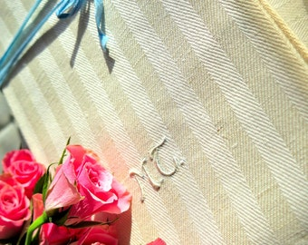 A dozen - Linentowels - antic stripe towels - Wedding gift