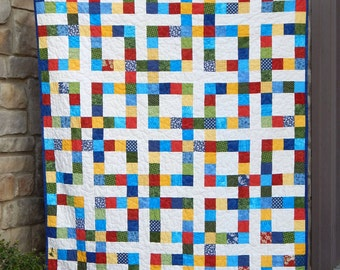 My Lucky Square Modern Lap Quilt