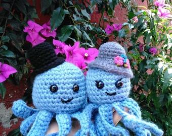 Pulpo amigurumi Mr. And Mrs octopus