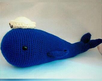 Blue whale, whale blue woven