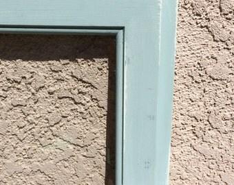 Duck Egg Distressed Window Pane