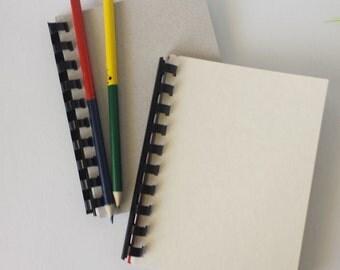 A6 Recycled Notebook, Secret Keepsake Journal, Smashbook, Artists Pad, Childs Busy Book, set of 2