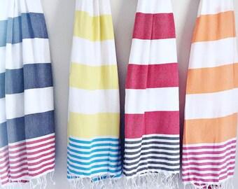 Bold Striped Aegean Towels