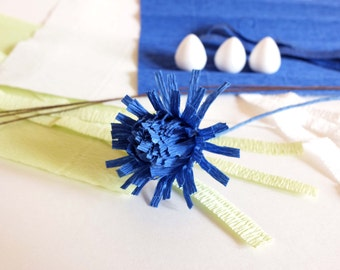 Crepe Paper Thistle Kit