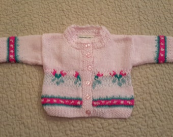 Pink Tulip Baby Sweater