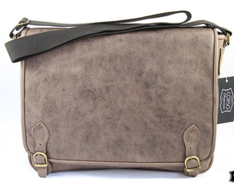 Leather School bag MADE IN ITALY