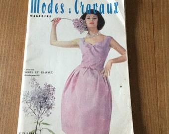 French vintage 1960's magazine Modes & Travaux