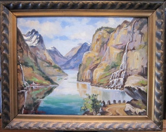 BELMORE BROWNE Outstanding Plein Air Oil On Canvas Signed (1880-1954)