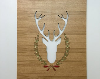Wood Wall Deer Decor