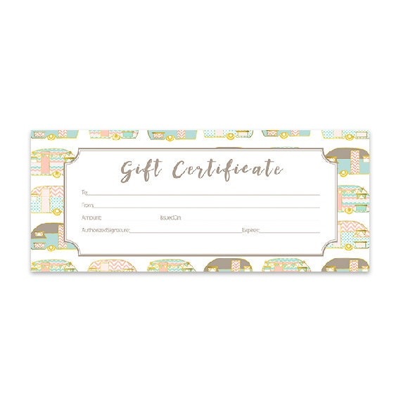 Vintage gold retro camper trailer gift certificate download vintage gold retro camper trailer gift certificate download premade gift certificate printable template blank gift certificates from cafeink on etsy yadclub Image collections