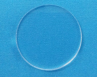 "25 Clear Acrylic CIRCLE - ( Select size )  1/8"" or 1/16"" Thick - laser cut With Polished Edges Plexiglass"