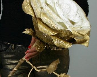 Giant glitter paper flower, Large paper rose, Giant bouquet flower, Giant flower