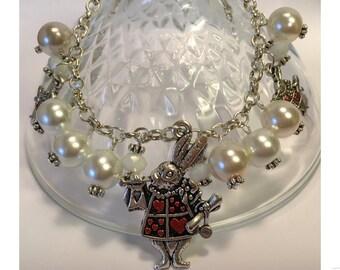 White Rabbit Charm Bracelet
