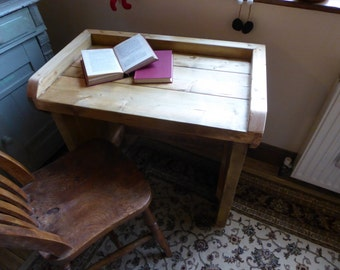 Childs desk handmade solid rustic pine