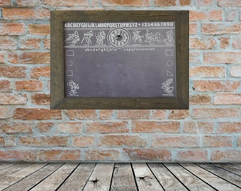 Magnetic board with frame, vintage style.