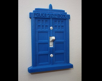 Doctor Who Tardis Switch Plate Cover - 3D Printed