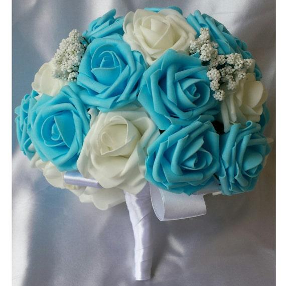 Light Blue Bridal Bouquet Wedding Bouquet Bride Bouquet Blue Wedding