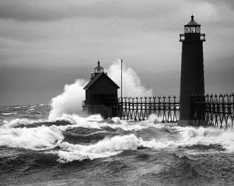 Angry Water in Grand Haven - 5x7 print